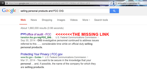 FCC Cover-UP?